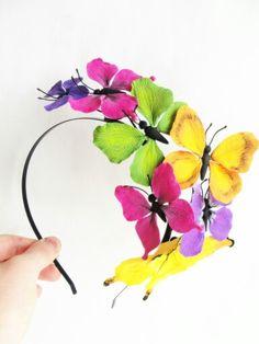 Butterfly Crown, Butterfly Headband, Woodland, Whimsical Headband, Baby Headband