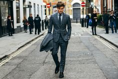 oliver cheshire grey suit chelsea boot smens street style