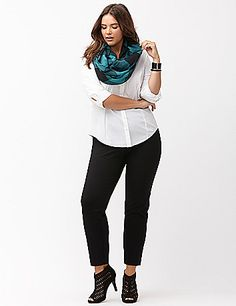 Soft, stretchy and endlessly versatile, the ponte slim leg pant is always the right choice! From workday through weekend, this slim leg pant is an easy favorite for its soft, substantial ponte knit that resists wrinkles, fading & pilling. Pull-on style with a smooth elastic waistband, with zipper front pockets for a pop of modern attitude. lanebryant.com