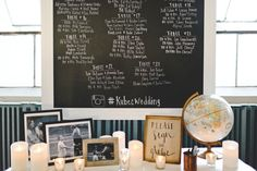 guest book tables - photo by Mallory and Justin Photographers http://ruffledblog.com/glam-wedding-in-a-cleveland-warehouse