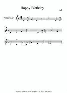 Trumpet sheet music-happy birthday