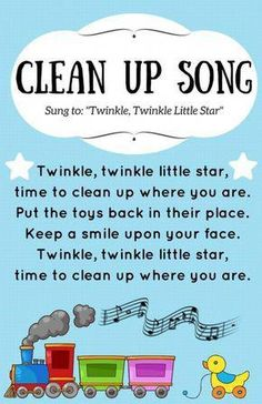 I designed a Clean Up Song poster to put in our early learning area. I was hopin… I designed a Clean Up Song poster to put in our early learning area. I was hoping that this would be a fun way to gently remind children and… Kindergarten Songs, Preschool Music, Preschool Learning, Preschool Activities, Circle Time Ideas For Preschool, Transition Songs For Preschool, Toddler Circle Time, Preschool Transitions, Nursery Rhymes Preschool