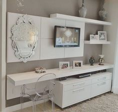 35 Amazing Wall TV Cabinet Designs for Cozy Family Room 35 Amazing Wall TV Cabinet Designs for Cozy Family Room – Whether you live in a spacious house or live in a small apartment, the living room is a place where you can relax with your family, e… Home Bedroom, Bedroom Decor, Bedrooms, Home Office Design, House Design, Tv Wall Decor, Wall Tv, Tv Cabinet Design, Cozy Family Rooms