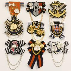 Petit badge mode broche style de la marine insigne corsage hommes broche médaille de costume de style preppy dans Broches de Bijoux sur AliExpress.com | Alibaba Group