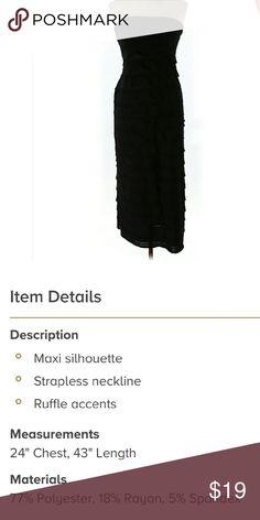 Black max studio dress size xs Maxi dress size xs worn twice. Ruffle details Max Studio Dresses Maxi