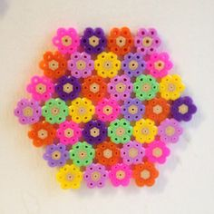Spring coaster hama beads by loobyroux
