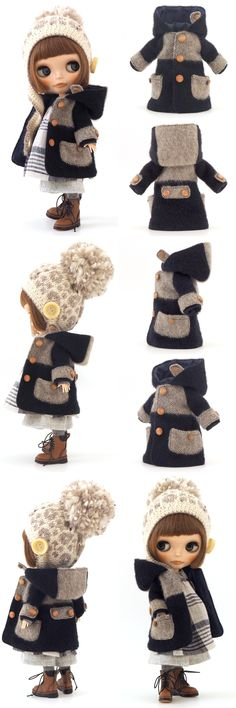 Outfit for winter with faux fur hat, coat, and boots.
