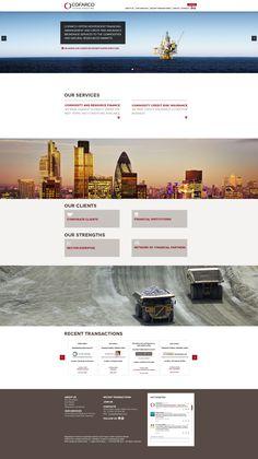 COFARCO  Conception et réalisation du site pour Cofarco, société spécialisée dans le marché des matières premières. C'est un intermédiaire financier  http://www.cofarco.com/  Client : Cofarco Agence : Netemedia