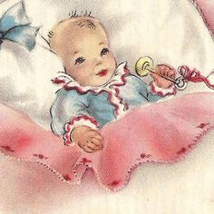 SALE Vintage Baby Greeting Cards by PaperPrizes on Etsy