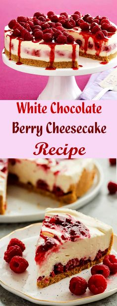 My favorite is the raspberry and white chocolate cheesecake - which is very good I just need to imitate at home. Coconut Hot Chocolate, White Chocolate Cheesecake, Berry Cheesecake, Homemade Chocolate, Cheesecake Recipes, Chocolate Recipes, Delicious Cake Recipes, Yummy Cakes, Yummy Food