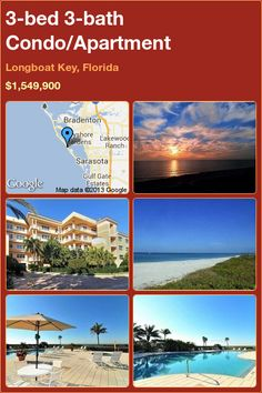 3-bed 3-bath Condo/Apartment in Longboat Key, Florida ►$1,549,900 #PropertyForSale #RealEstate #Florida http://florida-magic.com/properties/7132-condo-apartment-for-sale-in-longboat-key-florida-with-3-bedroom-3-bathroom