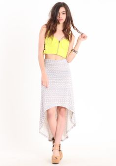 Pacific Coast High-Low Skirt By Alternative Apparel 44.00 at threadsence.com