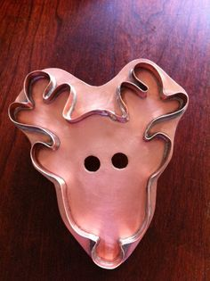 RUDOLF Copper Cookie Cutter by MichaelBonne on Etsy