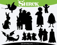 SPRING SALE Shrek Instant Download silhouette by pinkykatieclipart