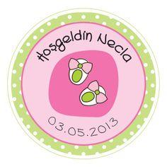 Baby Shower-Doğum Günü Sticker-Özel Gün Baskıları