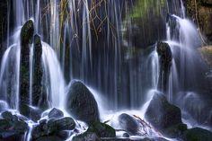 Waterfall in Sonsbeekpark Arnhem, The Netherlands. By chobecajero