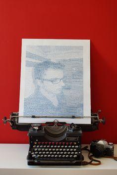ASCII-ART: Typed Self Portrait (self-portwriteal) - Handgetipptes Selbstschriftnis