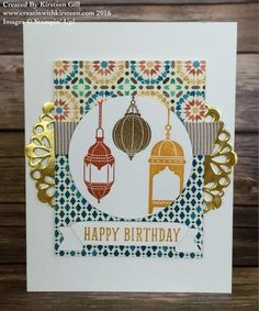 CASE-ing the catalog using Moroccan Nights #stampinup #creatinwithkirsteen #moroccannights