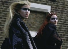"""Witches"", Cara Delevingne, Codie Young, Magda Laguinge, Louise Parker & Charlie Bredal by Richard Bush, I-D pre spring 2013"