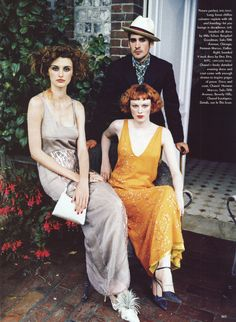 US Vogue November 1997 Bohemian Rhapsody Photographer: Ellen von Unwerth Fashion editor: Grace Coddington Models: Karen Elson & Trish Goff