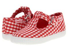 Cienta Kids Shoes 51007 (Infant/Toddler) Red Gingham - Zappos.com Free Shipping BOTH Ways $33