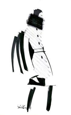 Fashion Sketch 1 from the Banana Republic Anna Karenina collection #BRAnnaK