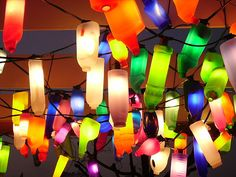 recycled bottle-lights