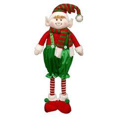 Fabric SANTA /& REINDEER Mantelpiece Decoration Christmas Door Stop