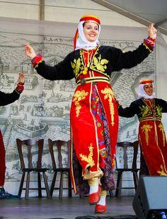 Turkish folk dancers
