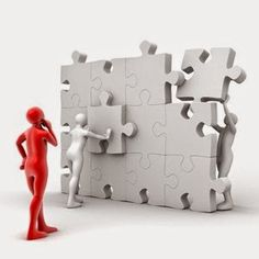 business teamwork puzzle - Team by Giimann Sticky Man, Ib Learner Profile, Magnet School, 3d Character, Little White, Team Building, White Man, Teamwork, Puzzle