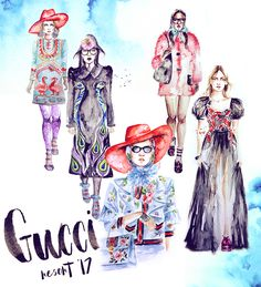 Gucci Runway Resort '17 on Behance by @camisgray