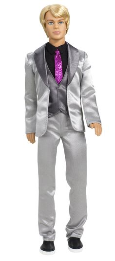 Amazon.com: Barbie A Fashion Fairytale Ken Doll: such a nice face!  $21.99  reviewers say that knees do not bend