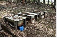 Really want to do this by the chicken pen! Worm Farms in old bathtubs