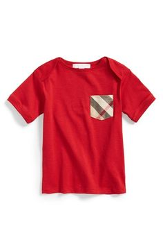 Burberry 'Callum' Check Print Chest Pocket Cotton T-Shirt (Toddler Boys) available at #Nordstrom