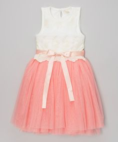 Look what I found on #zulily! Pink & White Party Dress - Toddler & Girls by Sweet Cheeks #zulilyfinds