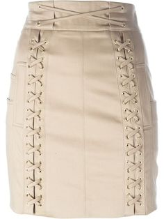 Shop Balmain lace fastening detail mini skirt in Joseph UK from the world's best independent boutiques at farfetch.com. Shop 400 boutiques at one address.