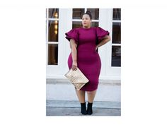 "<p>The wine color craze has been everywhere this winter. Chastity takes it to the next level with this statement ruffle-sleeve bodycon dress and matching lipstick combo. (Photo courtesy <a rel=""nofollow"" href=""http://www.garnerstyle.com/2016/11/beautiful-budget-friendly-bordeaux.html"">Chastity Garner</a>)  </p>"