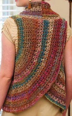 Crochet suéteres: modelos del ganchillo del Bolero maravilloso y un chaleco para las mujeres