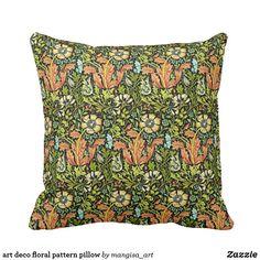 Shop art deco floral pattern pillow created by mangisa_art. Compact Mirror, Custom Art, Color Patterns, Decor Styles, Fashion Art, Party Supplies, Canvas Art, Art Deco, Art Prints