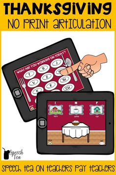 No print, no prep! Thanksgiving articulation interactive games will be a big hit with your students! Multiple sounds targeted in all positions. Easy Thanksgiving speech therapy materials for your holidays. Click for more info.