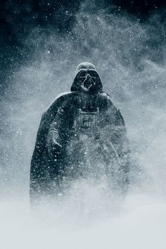 StarWars' Darth Vader in snow storm (via ShockMansion.com/2012/10/16)