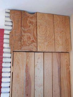 SOL grabado en madera