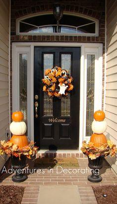 Adventures in Decorating: pumpkin topiaries