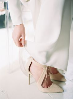 Photography: Orange Photographie - orangephotographie.com Bride's Shoes: Topshop - http://us.topshop.com/?geoip=home   Read More on SMP: http://www.stylemepretty.com/2016/05/04/two-trends-youll-see-everywhere-this-wedding-season/