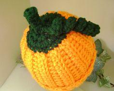 Crochet Pumpkin Hat    Newborn Baby Fall Halloween by PrissysPlace, $12.00