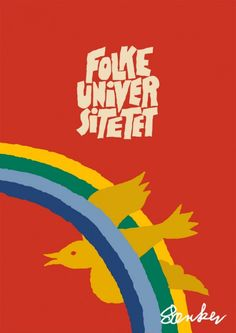 Figurative poster/plakat for Folke Universitetet in Aalborg