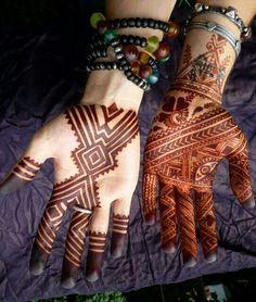 Elegant geometric moroccan henna