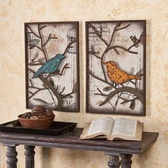 SEI Cranston Vintage Bird Wall Panel, Set of 2 Orange wall art is a vivid, playful and fun way to decorate your home with. Combine orange wall art with orange home décor accents to create a warm and inviting space. Orange wall art creates a bold impression that friends and family will remember. In fact people who live in an orange home décor theme tend to be more adventurous, curious and extroverted.