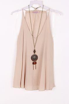 Silky Laurel Shirt in Soft Mocha on Emma Stine Limited