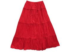 Long Skirt, Red Lacework Boho Crinkled Maxi Skirts for Womens Mogulinterior mogulinterior,http://www.amazon.com/dp/B00E5V3YMQ/ref=cm_sw_r_pi_dp_dqZ8rb1ETJJJ006E